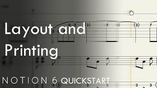Notion 6 QuickStart 5: Layout and Printing
