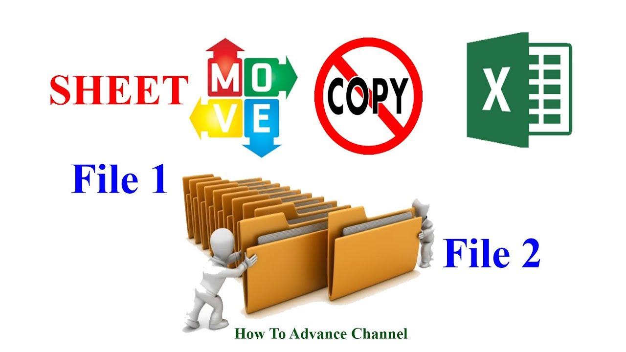 Excel |Cách Di  Chuyển Và Copy 1 Sheet Trong 1 Hay Nhiều File Excel Với Nhau