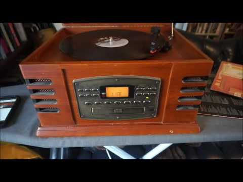 Test Crosley CR-78CD Multi Task Radio Turntable Record CD Cassette Player