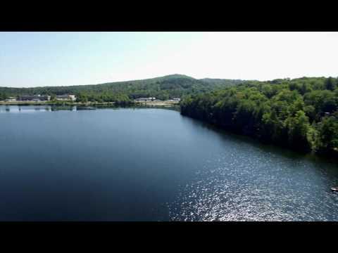 Aerial Video of Lake Colby in Saranac Lake, NY