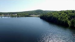 Aerial Video of Lake Colby in Saranac Lake, NY