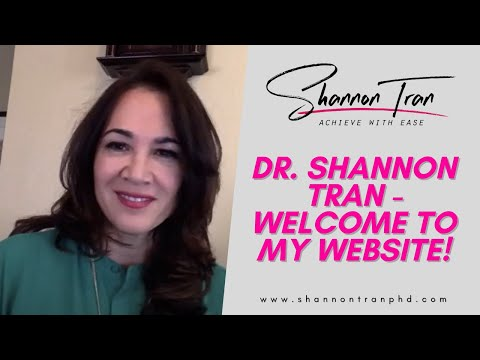 Dr  Shannon Tran - Welcome to my website!