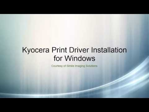 Kyocera Print Driver Install for Windows - YouTube