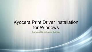 Kyocera Print Driver Install For Windows