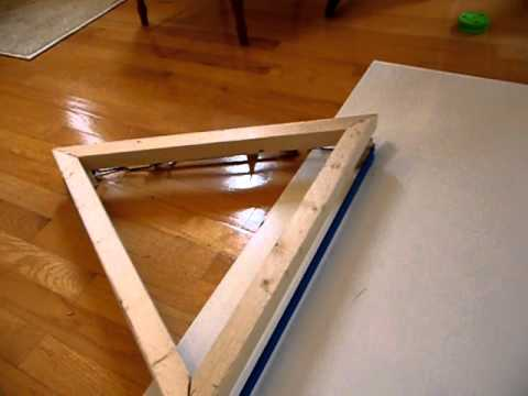 Homemade Hockey Practice Pad Puck Rebounder Youtube