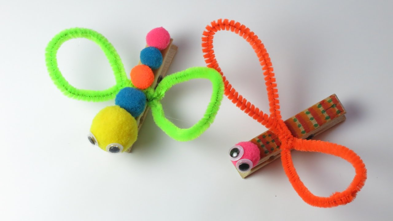 Dragonfly arts and crafts - Diy How To Make Clothespin Dragonfly Easy Crafts For Kids