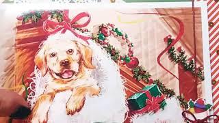 Обзор рождественской  открытки????