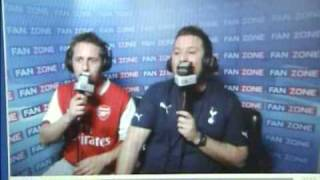 ARSENAL SPURS 4-4 FANZONE THIS IS QUALITY   UP YOURS ARSENAL