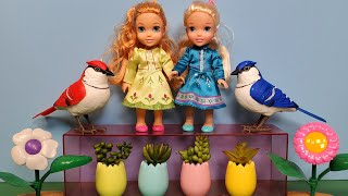 Garden Store ! Elsa & Anna Toddlers Are Shopping For Plants - Barbie And Ken Help
