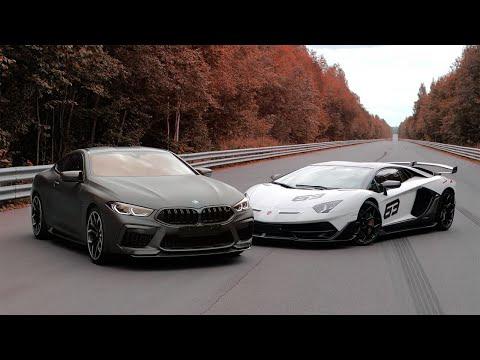 800+ л.с. BMW M8 vs 800+ л.с. Lamborghini Aventador SVJ. Битва идеологий