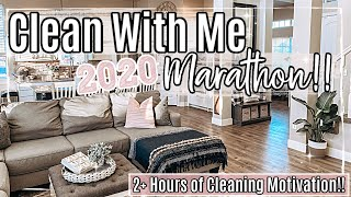 2020 CLEAN WITH ME MARATHON :: 2+ HOURS OF INSANE SPEED CLEANING MOTIVATION :: HOMEMAKING #WITHME