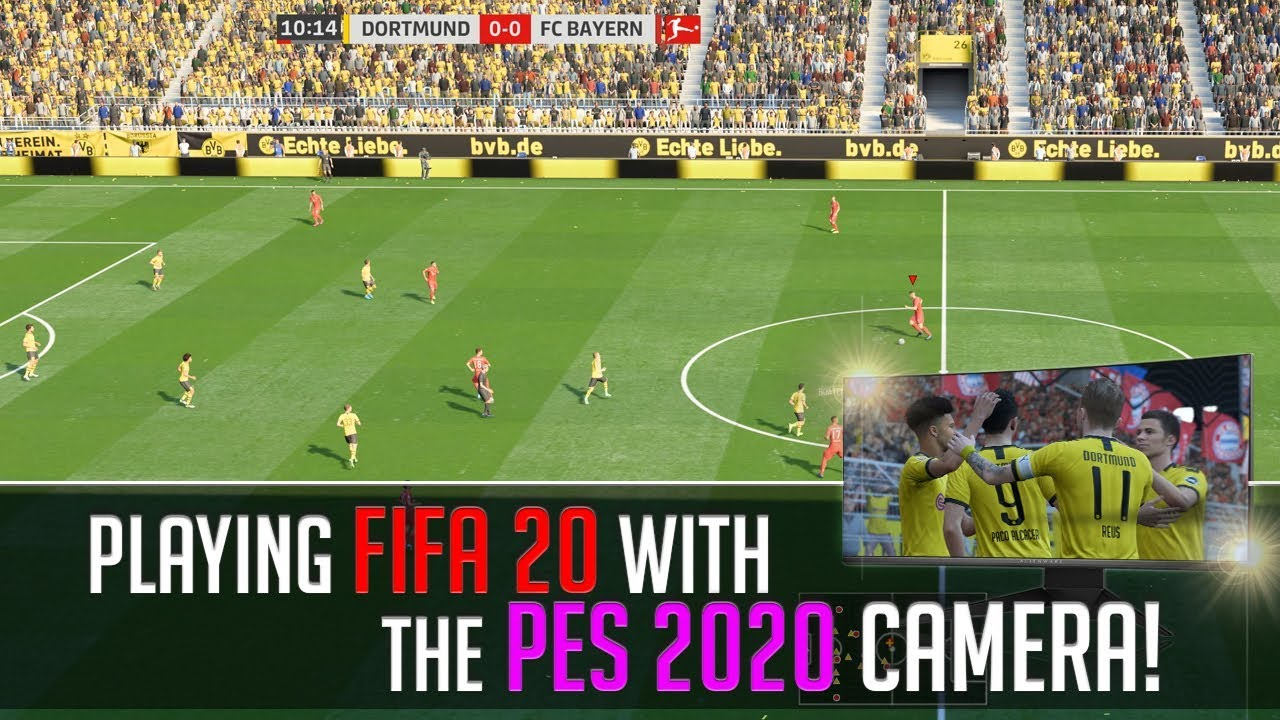 [TTB] Playing FIFA 20 with the PES 2020 Stadium Camera! - Got to Admit, it  Looks Good!