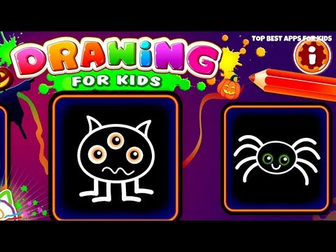 🎁 FREE Halloween Drawing App for Kids 🎃 Learn to draw Halloween Characters