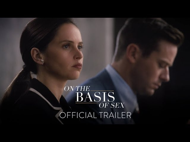 """In the fight for equality, she had no equal. Felicity Jones is Ruth Bader Ginsburg in #OnTheBasisOfSex, featuring the new original song by Kesha, """"Here Comes The Change."""" In theaters this Christmas!"""