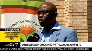 UCDP launches its election manifesto in Ganyesa, North West thumbnail