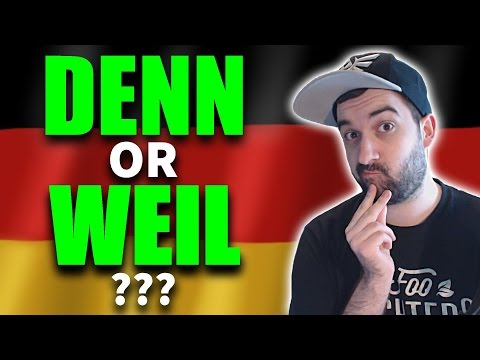 LEARN GERMAN | Denn OR Weil? What's The Difference? | German Lesson | VlogDave