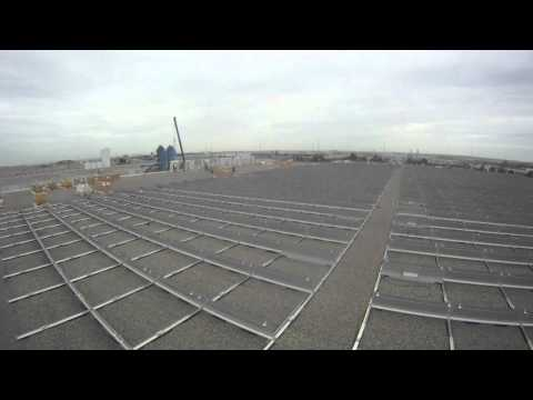 618kW Rooftop Solar Installation by RESCo Energy Inc. (Time Lapse)
