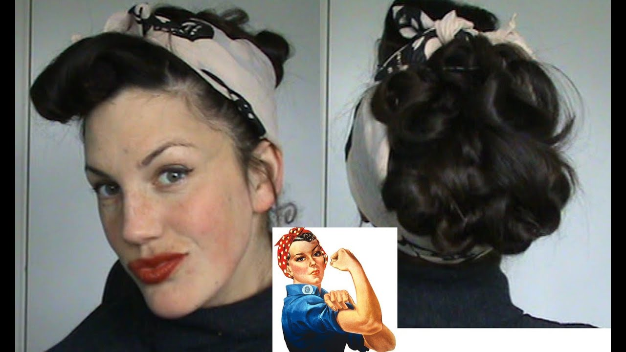 Hairstyle Tutorial 50s Hairstyles With Scarves