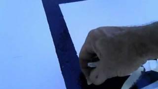 Cómo hacer una canasta de baloncesto (5/9), Pintado cuadrado de rebote