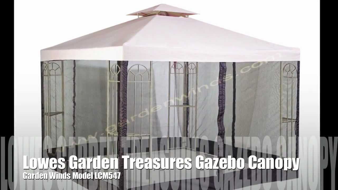 Backyard Canopy Lowes :  Canopy for the Lowes Garden Treasures Classic 10×10 Gazebo  YouTube