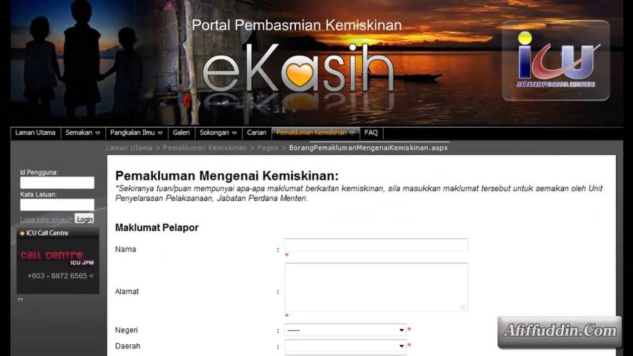 Daftar Ekasih Online Bagaimana Cara Mendaftar Borang Bantuan