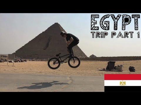 RIDING BIKES AT THE GREAT PYRAMIDS