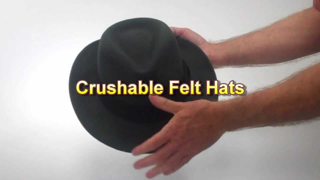 40f36ec8beaa1 Crushable Felt Hats - Village Hat Shop - YouTube