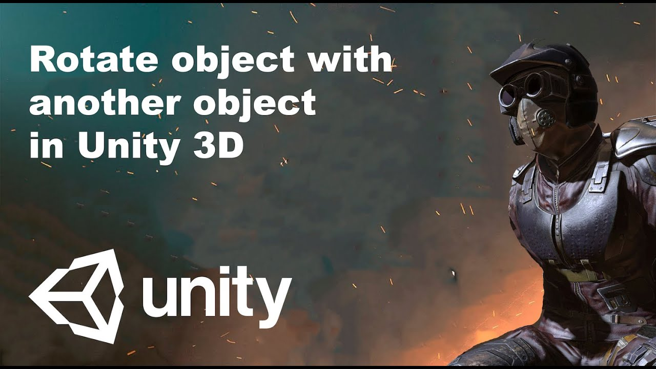 Rotate object with another object in Unity 3D