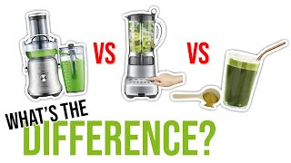 Juicing vs Blending vs Greens Powder Supplement ? (WHAT'S THE DIFFERENCE)