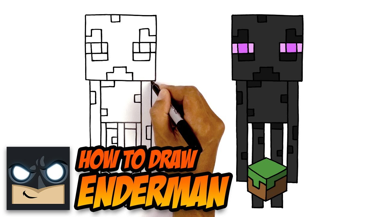 Minecraft | How To Draw Enderman