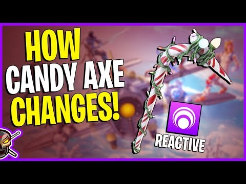 CANDY AXE *REACTIVE* TEST | 1-15 Elims - Fortnite