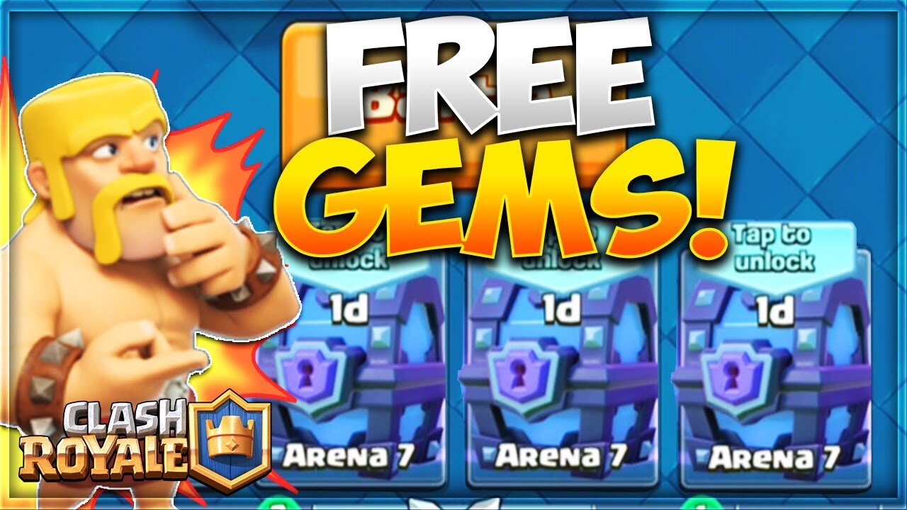 how to get free gems in clash royale no survey