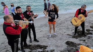 OMG! Random Girl with Amazing Voice Sings with Mariachi Band on Miami Beach