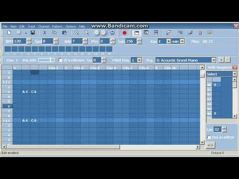 Making Music with MIDI Tracker in 5 minutes (2019-02-04)