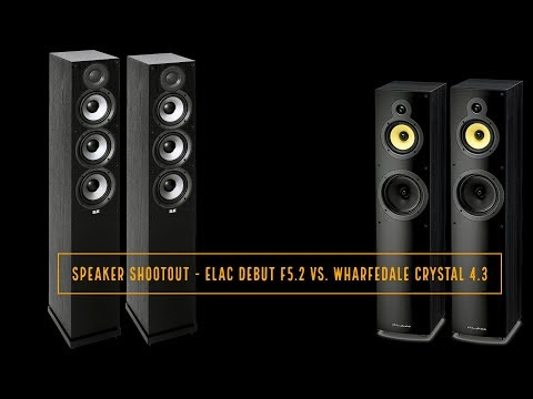 Speaker Shootout: ELAC Debut F5.2 vs. Wharfedale Crystal 4.3
