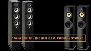 Скачать Speaker Shootout ELAC Debut F5 2 Vs Wharfedale Crystal 4 3