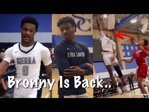 Bronny James Sophomore Year Debut From Injury