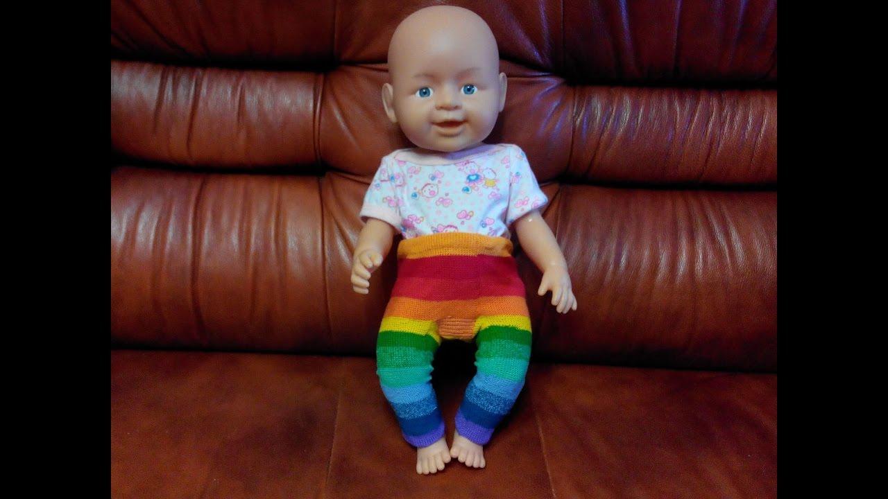 одежда для беби бона своими руками вяжем гамаши крючком Youtube