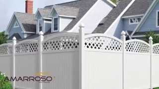 Amarroso Olympia Arched Lattice Top Privacy Fence