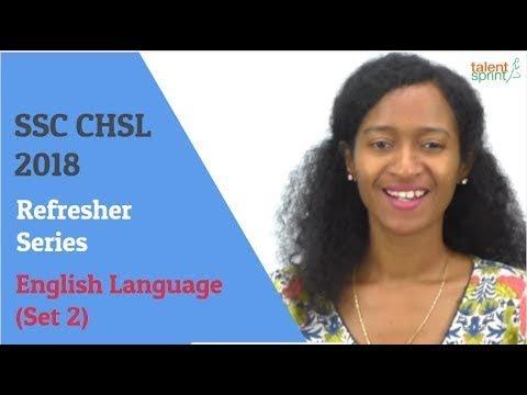SSC CHSL 2018 - Refresher series | English Language (Set 2) | TalentSprint