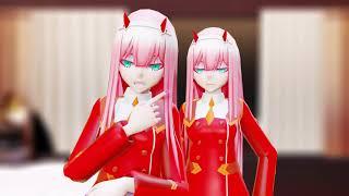 MMD Darling in the FranXX - Zero Two Two Best Friends TikTok