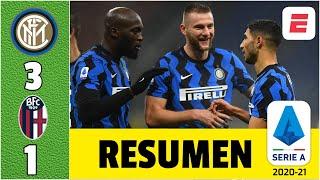 Inter 3-1 Bologna. Hakimi y Lukaku hacen soñar a los de Antonio Conte con el título | Serie A