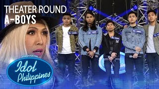 """A-Boys sings """"214"""" at Theater Round 