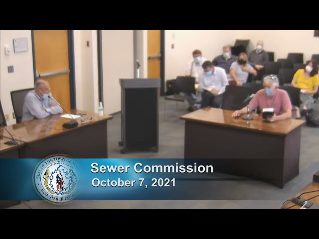 Sewer Commission 10-7-21