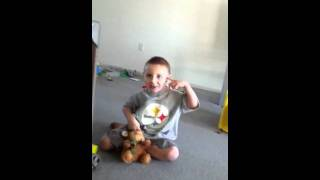 """4 year old singing """"a thousand miles"""" by Vanessa Carleton"""