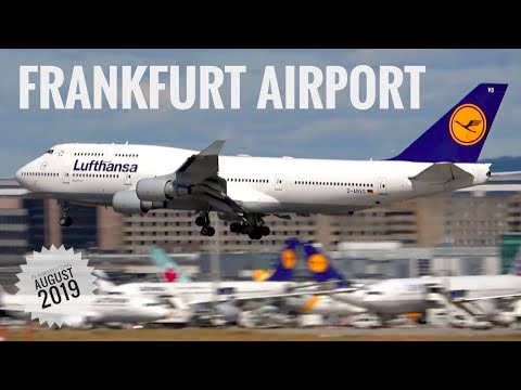 FRANKFURT AIRPORT Planespotting August 2019 - LH B748 Retro, EK + LH A380 new colors, Thai A350 etc.