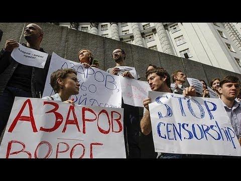 Ukraine : nouvelle protestation de la presse contre le gouvernement