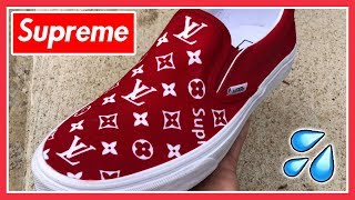 SUPREME x LOUIS VUITTON VANS - (Full Tutorial) + (Giveaway Results)