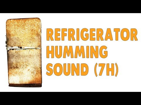 Refrigerator - 7 Hours Of Relaxing Humming Sound From An Old Fridge - Black Screen