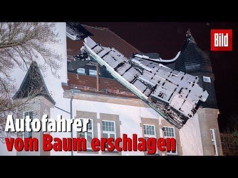 Sturmtief Eberhard tobt über Deutschland